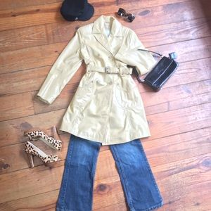 🍁 Wilson's Leather BUTTER Tan Trench Coat